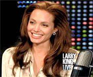 Angelina Jolie wearing Lisa Freede earrings