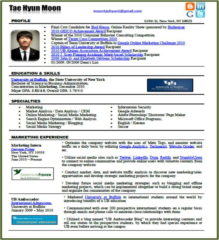 contoh format job description