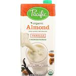 Pacific Foods: Organic Unsweetened Almond Beverage Vanilla, 32 Oz