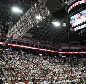 El aspirante  presidencial priista, Enrique Peña Nieto, en Monterrey. Foto: Prensa  EPN