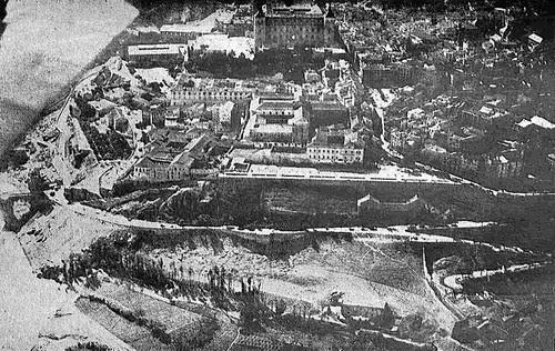 Vista aérea del Paseo del Miradero de Toledo en 1928.