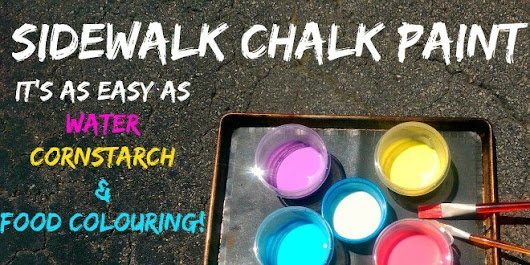 Sidewalk Chalk Paint Recipe: It's Ridiculously Easy