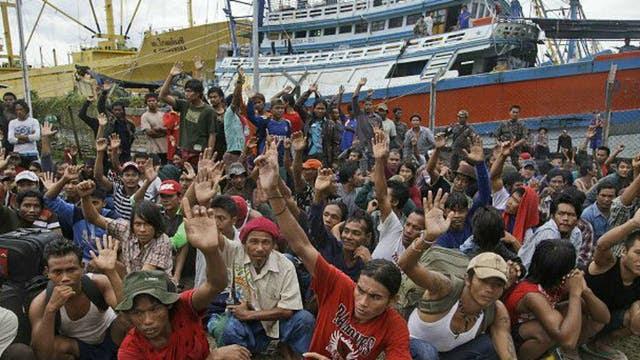 En Birmania una empresa fue acusada de incurrir en tráfico humano con pescadores de la región