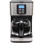 Capresso SG220 12-Cup Coffee Maker - Black/Stainless Steel