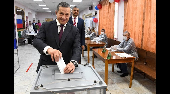 Вице-премьер Трутнев проголосовал на выборах в Госдуму на участке в Чите