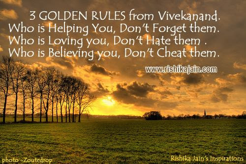 Golden Rules Of Vivekanand Inspirational Motivational Quote
