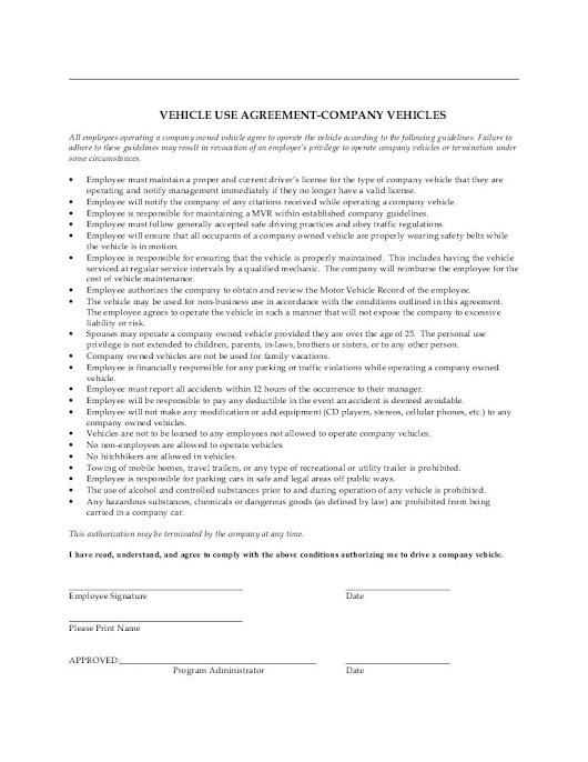 Norah salibi google company vehicle use agreement platinumwayz