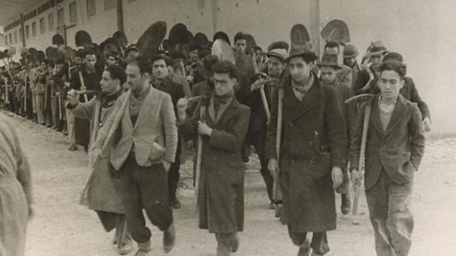 Tunisian Jewish men taken to forced labor camps