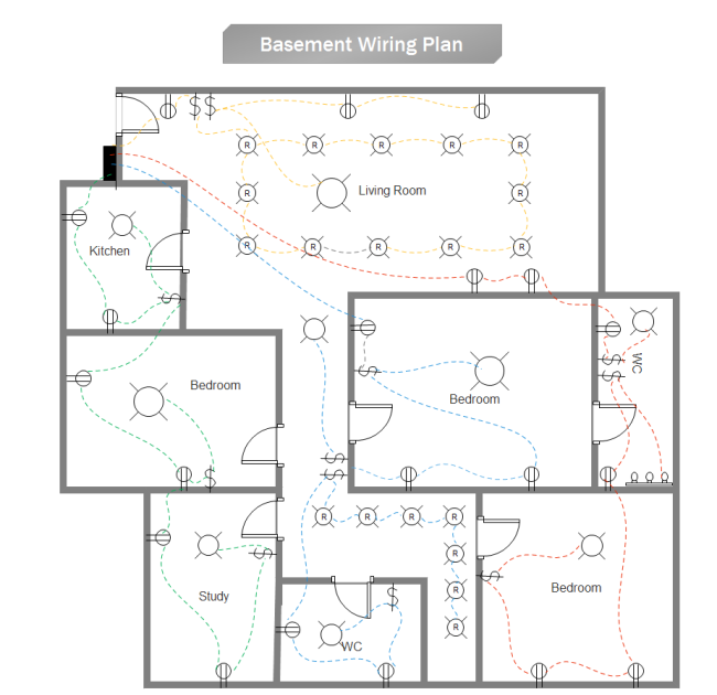 Floor Plan Electrical House Wiring Diagram Software