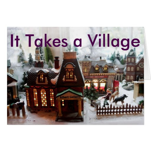 It Takes a Village Christmas Card