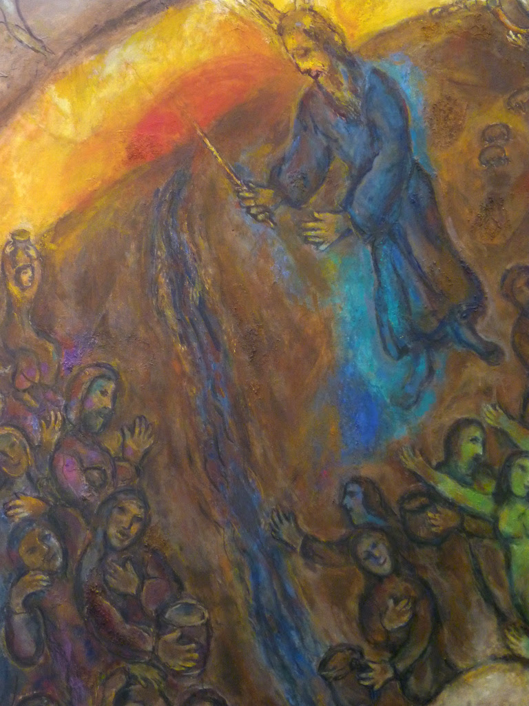 Title: Moses Striking the Rock and Bringing Forth the Water [Click for smaller image view]
