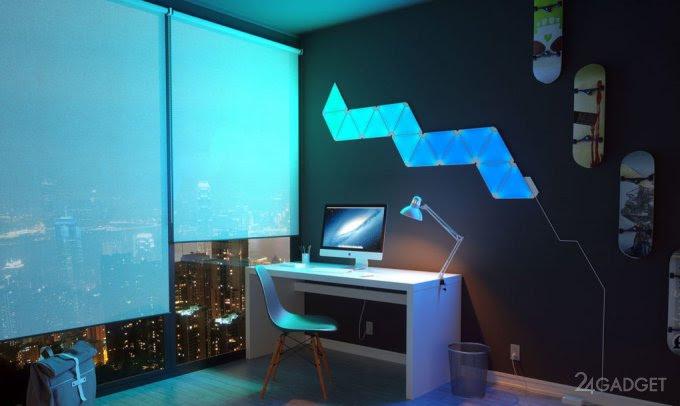 Светодиодные смарт-панели добавят красок в интерьер (19 фото + видео)