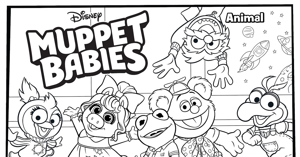 Disney Junior Muppet Babies Coloring Pages