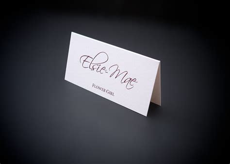 To Make A Memory   Name Place Cards