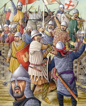 Navas de Tolosa, imagen, empieza la batalla