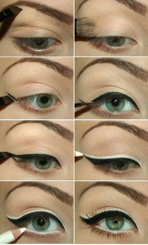 This is cool! I don't know how I'd like the white upper line on me, but it's something I'd like to try. Especially since I, also, have green eyes.