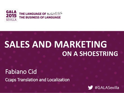 Sales and Marketing on a Shoestring