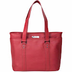 Kenneth Cole Reaction A Majority Leather Tote Red
