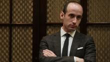 WASHINGTON, DC - FEBRUARY 14:  White House senior policy adviser Stephen Miller waits for the beginning of  a parent-teacher conference listening session at the Roosevelt Room of the White House February 14, 2017 in Washington, DC. Alex Wong/Getty Images)