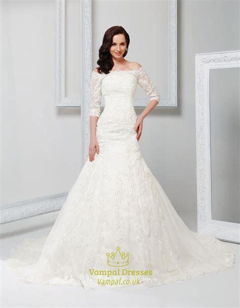 Off Shoulder Vintage Wedding Dress With Sleeves 2016,Off