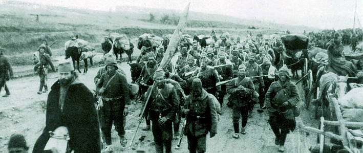 Soldiers in Balkan Wars