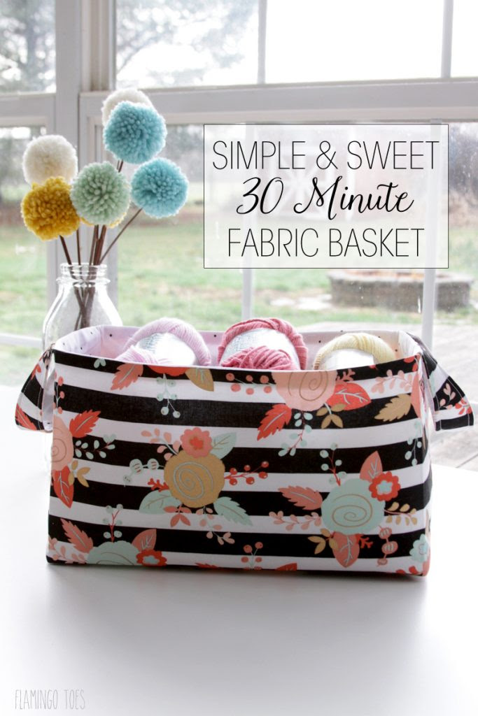 Simple-and-Sweet-30-Minute-Fabric-Basket