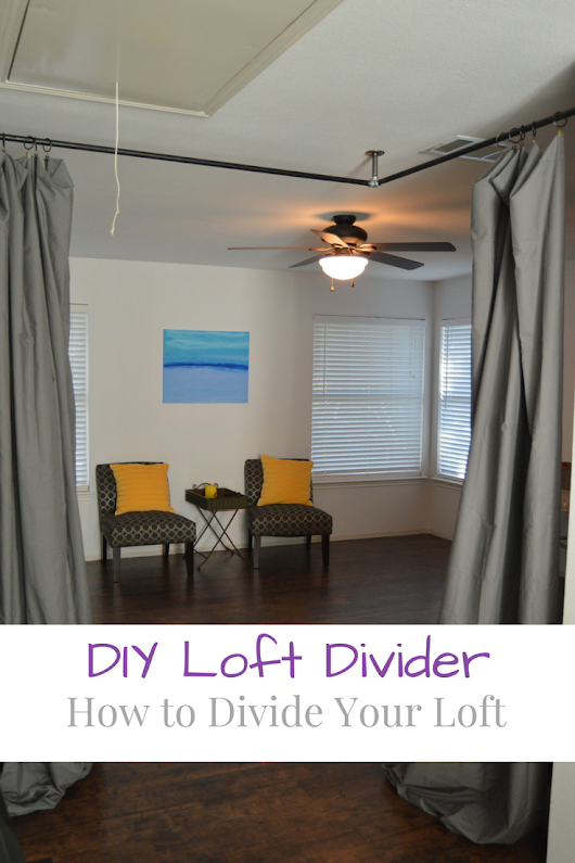 How to Divide Your Loft With Curtains - My Big Fat Happy Life