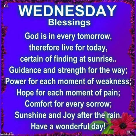 Wednesday Blessings Quotes