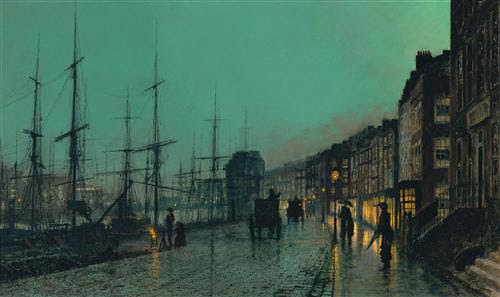 Shipping on the Clyde  - John Atkinson Grimshaw - WikiArt.org