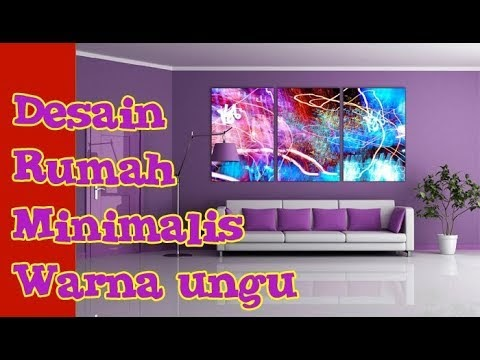 Rumah Minimalis Lantai 2 Nuansa Ungu  trend perpaduan warna cat rumah ungu minimalis interior