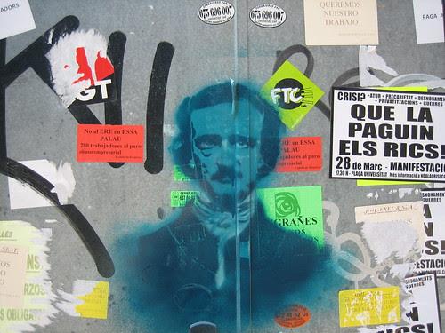 Edgar Allan Poe buscant inspiració