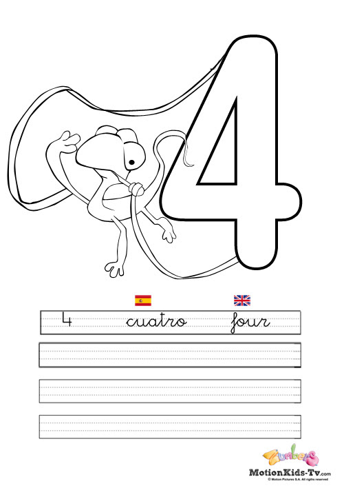 Learn The Numbers From 1 To 10 Educational Coloring Pages
