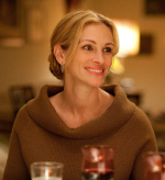 Julia Roberts in Eat Pray Love wearing Me and Ro Gold Cloud Earrings