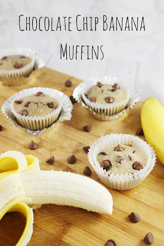 Chocolate Chip Banana Muffins - Savvy In The Kitchen
