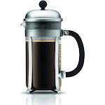 Bodum Chambord French Press (34 Oz., Matte Chrome)