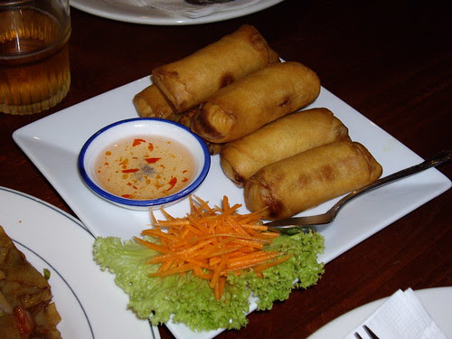 spring rolls at green palace