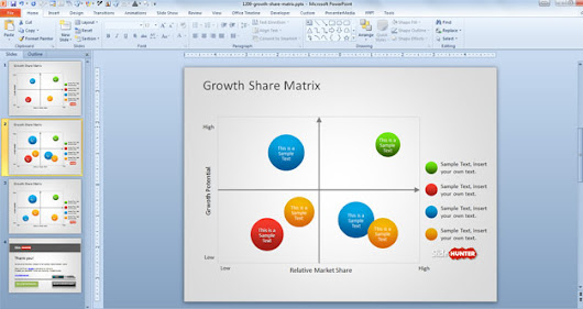 Free Growth Share Matrix Template for PowerPoint - Free PowerPoint Templates - SlideHunter.com