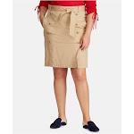 RALPH LAUREN Womens Beige Above The Knee Pencil Wear To Work Skirt