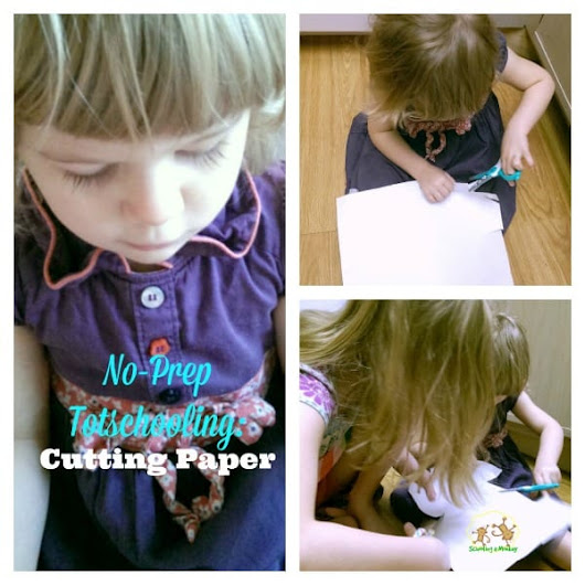 Easy Toddler Activities: Cutting Paper - Schooling a Monkey