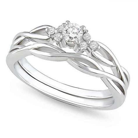 Precious Diamond Bridal Ring Set 0.25 Carat Round Cut