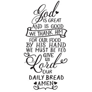 Silhouette Design Store View Design 273981 Give Us Lord Our Daily Bread