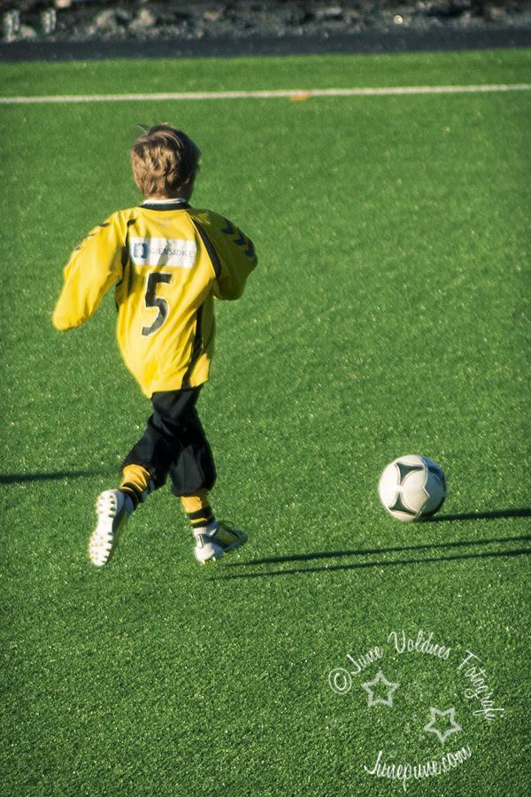 fotballtrening og redesignbukse