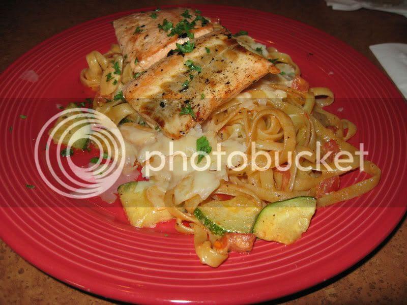 Cedar Plank Salmon Pasta