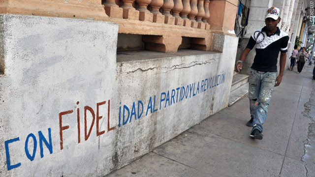 A street in the Cuban capital Havana -- one of the longest entries  in EcuRed is about the former Cuban president Fidel Castro.