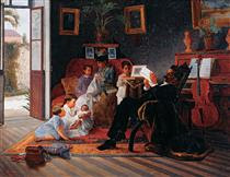 Scene of Adolfo Pinto's Family - Jose Ferraz de Almeida Junior