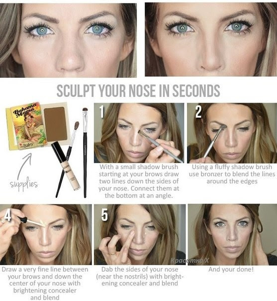Nose Thinning Makeup Tutorial - How to Make Fat Nose Look ...