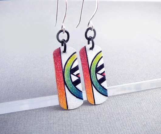 Nickel Free Earrings Funky Earrings Colorful Jewelry