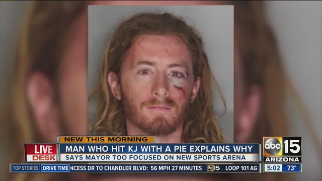 Image result for punch pie sacramento mayor punched arrested