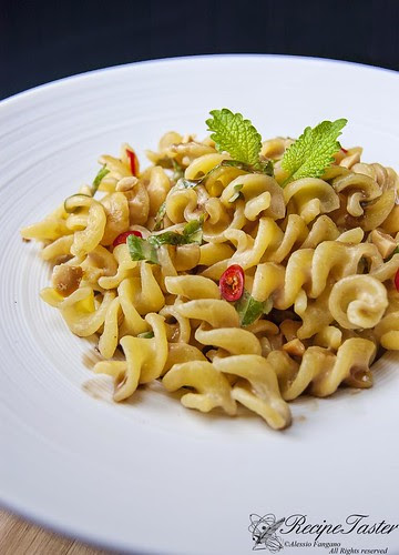 Aromatic peanut sauce over pasta (HDR version)