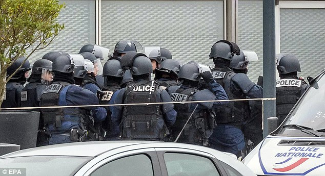 Large groups of police descended on the airport, in the south of the French capital, following this morning's shooting